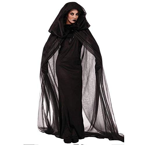 PIN Halloween kostüme frauen halloween kostüm cosplay weibliche hexe dress rock schwarz geist maxi dress performance - Heiligen Geist Kostüm