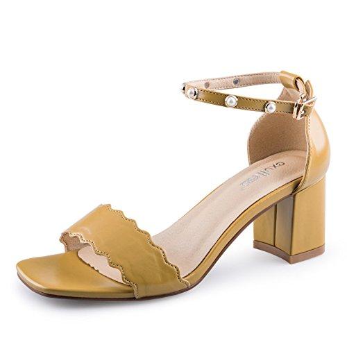 Mot Dété Avec Des Chaussures/Lady,Sandales à Talon Chunky/Fashion Sandales B