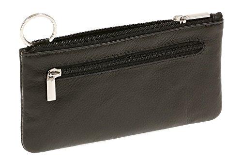 LEAS Pochette pour clés très grande taille, cuir véritable, noir Special Edition''