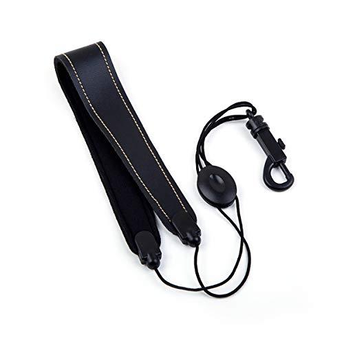 Healifty Saxophon Gurt verstellbare Ledergürtel für Tenor Alto Sopran Saxophon Musikinstrument Zubehör (schwarz)
