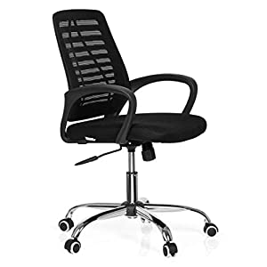 Ergonomic Mesh Computer Office Desk Midback Task Chair with Back Support, Metal Base