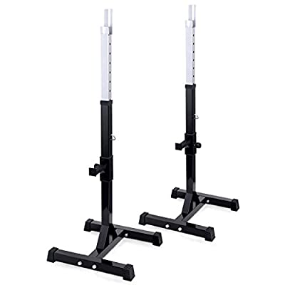 TNP Accessories Adjustable Heavy Duty Squat Rack Stand Power Weight Bench Support for Curl Barbell Olympic from TNP Accessories