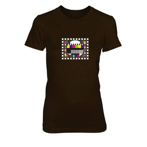 TBBT: Testscreen / Testbild - Damen T-Shirt Braun