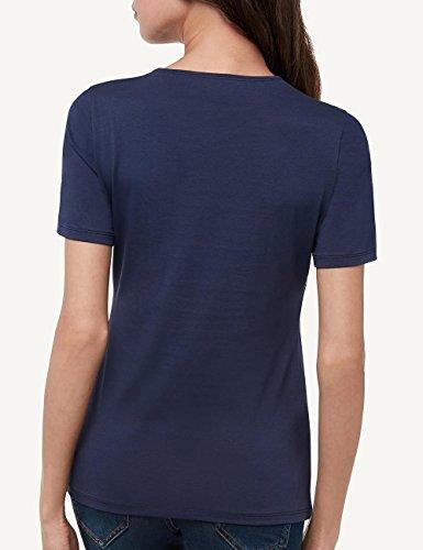 Intimissimi Damen Kurzarm-Shirt aus Supima®-Baumwolle mit Rundhalsausschnitt Blau - 3094