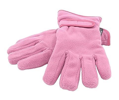 Girls Fleece Thinsulate Gloves - Dark Pink 4-8 Years
