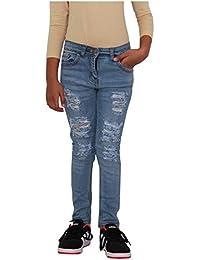A2Z - Pantalones vaqueros ajustados para niños y niñas