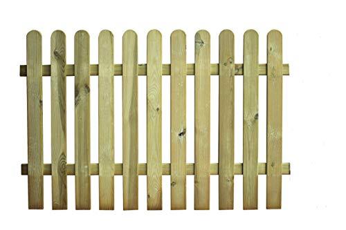 AVANTI TRENDSTORE - Manuel - Recinto in legno con 11 aste verticali, ideale per il giardino. Dimensioni: LAP 180x100x5 cm