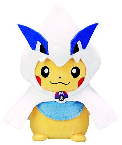 Pokemon-Center-Japan-Original-Stuffed-Lugia-Poncho-Pikachu-Peluche