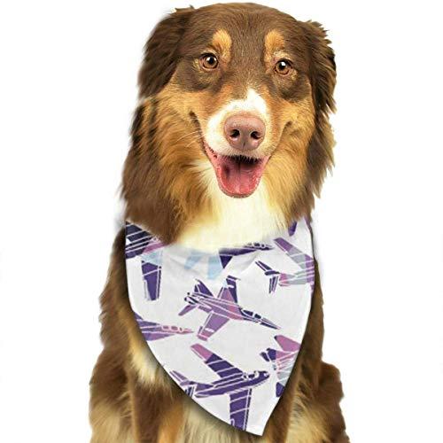 Sdltkhy Plane Pet Bandana Washable Reversible Triangle Bibs Scarf - Kerchief for Small/Medium/Large Dogs & Cats -