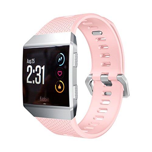 Armband, yustar New Ersatz Soft Silica Gel Smart Watch Band Strap Armband für Fitbit Ionic Herzfrequenz Fitness Tracker M rose