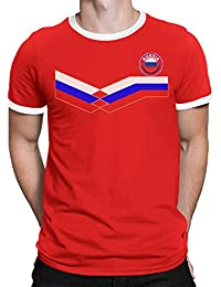 Russia Camiseta Para Hombre World Cup 2018 Fútbol New Style Retro