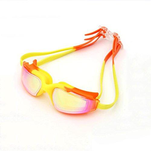 BYCSD Schwimmbrillen Kinder Teens Kid Schwimmbrille HD Wasserdichte Anti-Fog-Brille Racing Eye Protection (Farbe : 3306-2)