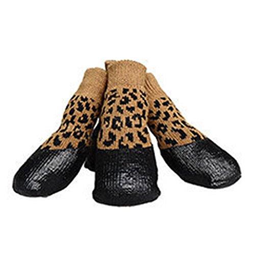 Haustier Wasserdicht Hund Welpen Katze Schuhe Hausschuhe Anti Rutsch Socken #0