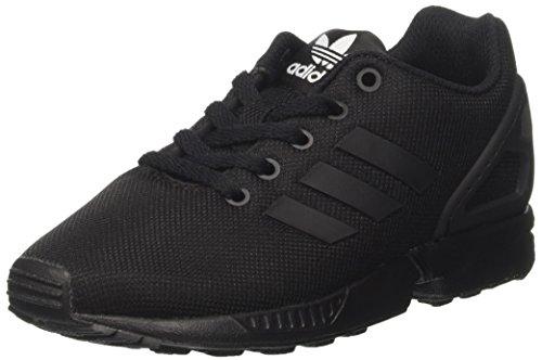 adidas ZX Flux J, Unisex-Kinder Laufschuhe, Mehrfarbig (Cblack/Cblack/Cblack S82695), 39 1/3 EU (Schwarz Schuhe Adidas)