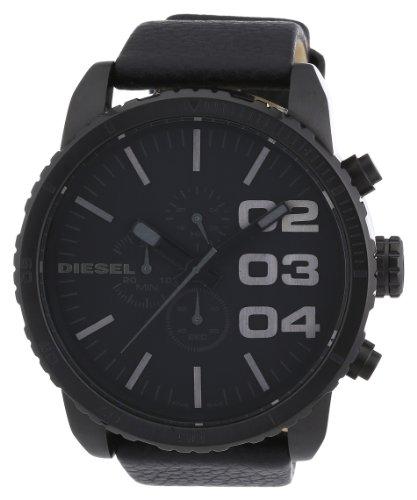 Diesel Herren Chronograph Quarz Uhr mit Leder Armband DZ4216