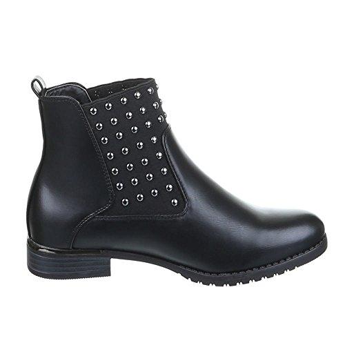 Chaussures, bottines h386 Noir - Schwarz 3