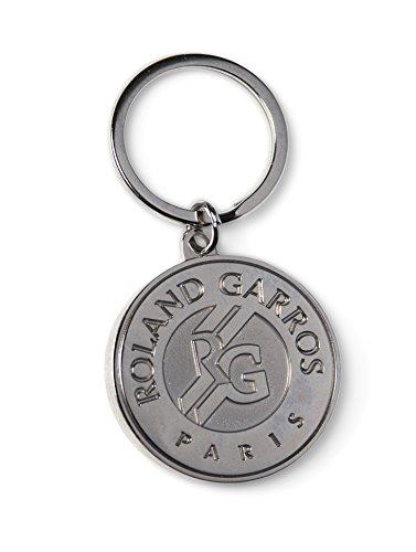 Roland-Garros Porte-clés souvenir logo monochrome gravé - Argent