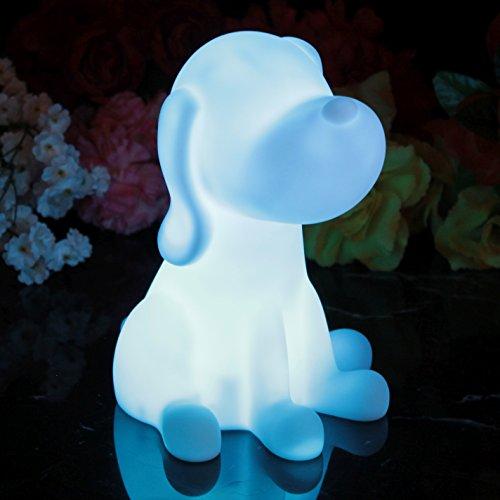 Stimmungslicht Nachtlicht mit Farbwechsel 20 cm - Hund PK Green