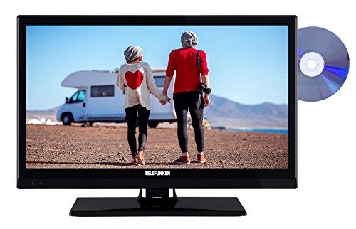 Telefunken XF22D101VD 56 cm (22 Zoll) Fernseher (Full HD, Triple Tuner, DVD-Player, 12 V)