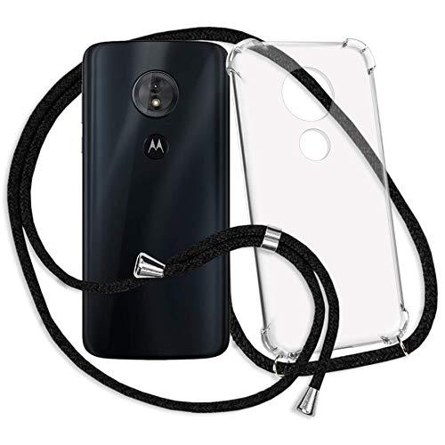 mtb more energy® Handykette für Motorola Moto G6 Play (5.7'') / Moto E5 (5.7'') - schwarz - Smartphone Hülle zum Umhängen - Anti Shock Strong TPU Case