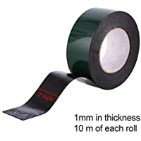 Lvcky - Cinta Adhesiva de Espuma de Doble Cara de 10 m (50 mm), Color Negro