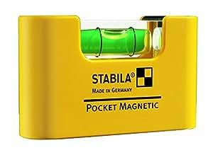 Stabila 17774/4 Type Magnetic Niveau à bulle 7 cm Jaune/Noir