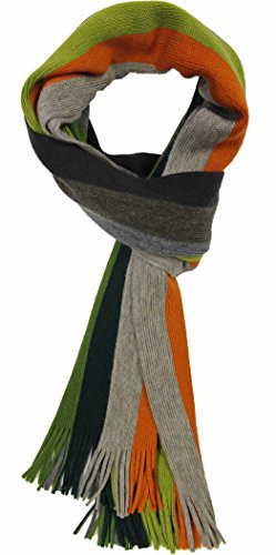Rotfuchs Echarpe en maille Echarpe Raschelschal rayée multicolore 100% laine (Merino)