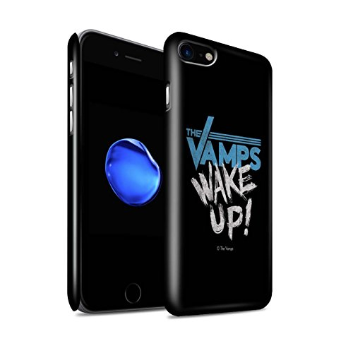 Officiel The Vamps Coque / Clipser Brillant Etui pour Apple iPhone 8 / Blanc/Noir Design / The Vamps Graffiti Logo Groupe Collection Réveillez-Vous!