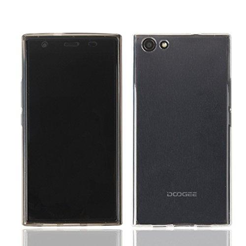 Guran® Weiche Silikon Hülle Cover für Doogee Y300 Smartphone Bumper Case Schutzhülle-Transparent weiß