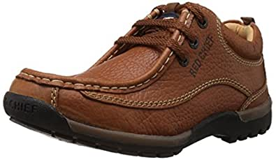 Redchief Men's Elephant Tan Leather Trekking and Hiking Outdoor Boots - 10 UK  (RC2104 107)