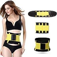 HXZB Hombres Y Mujeres Cinturón Deportivo Postparto Abdomen En Mujeres Cinturón Corsé,Yellow,XXL