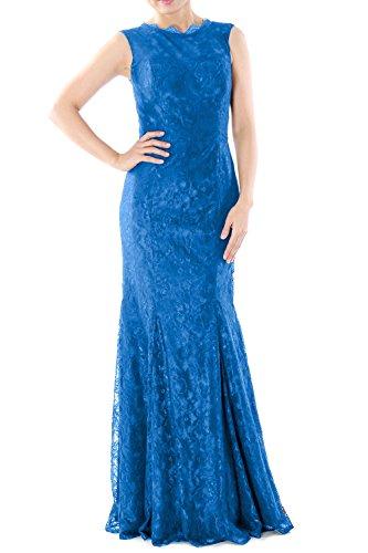 MACloth - Robe - Moulante - Sans Manche - Femme Bleu - Bleu