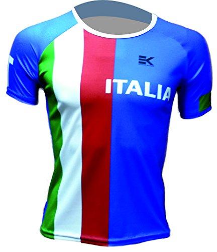 CAMISETA EKEKO ITALIA FLAG, UNISEX, running y deportes en general (XS, MANGA CORTA)