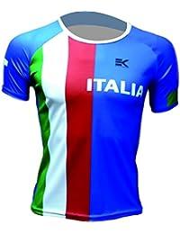 CAMISETA EKEKO ITALIA FLAG, UNISEX, running y deportes en general (XS, MANGA