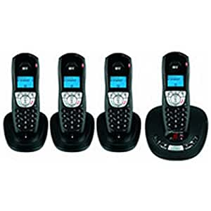 BT Synergy 4500 DECT Quad Digital Cordless Telephone with Answering Machine