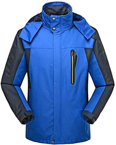 Regenmantel Herren Regenjacke Größe Atmungsaktiv Komfort Regenjacke Abnehmbare Kapuze Neues Jahr Im Herbst Spezielles Wander Camping Windjacke Mantel Wandern (Color : Blue, Size : 7XL) -