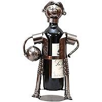 aubaho Flaschenständer hombre con soporte para botellas de vino balón de fútbol