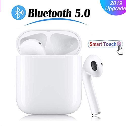 Bluetooth Kopfhörer Kabellos In Ear Sport Ohrhörer 3D Stereo HD Joggen V5.0 Stereo-Sound mit Ladestation und Mikrofon für iPhone Apple Airpods Android Samsung Huawei