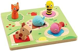 Djeco - 23470 - Puzzle Casse Tête En Relief - Niko - 5 Pièces