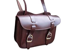 Tough Brown Leather Horse Riding Saddle Bag