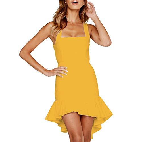 Ginli Vestito Donna Eleganti da Cerimonia Abito da Sera Partito Vestiti  Moda Donna Senza Maniche Casual 736d1e04897