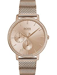 Hugo Boss Ladies Classic Analog Rose Gold Dial Women's Watch-1502519