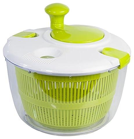 TAYLORS EYE WITNESS 4 Litre Plastic Salad Spinner, Green/White