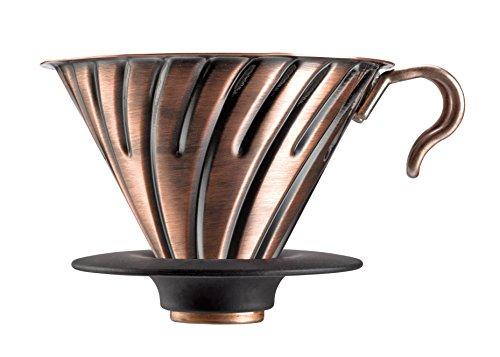 Hario Kaffeefilterhalter / V60 Metal DRIPPER 02 aus Metall/Kupfer, SCHWARZ f?r 1-4 Tassen