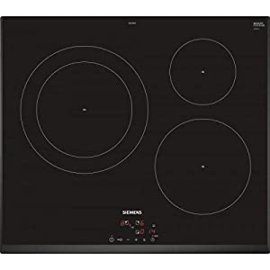Siemens EH651BJB1E hobs Negro Integrado Con – Placa (Negro, Integrado, Con placa de inducción, Vidrio y cerámica, 2200 W…