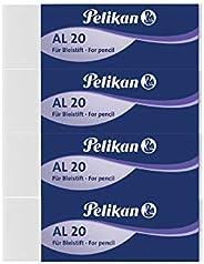 Pelikan Gomme da Cancellare, AL 20, Bianca, Confezione da 4 Pezzi, per Matite in Grafite- Senza Lattice e Ftal