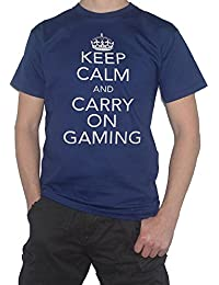 Keep Calm And Carry On Gaming - Funny T-Shirt - Gamers by My Cup Of Tee