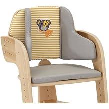 Herlag H5068-352 Sitzpolster für Hochstuhl Tipp Topp Comfort, gestreift, grau/orange/weiß