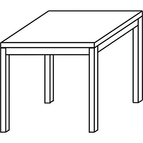 Konferenztisch mit Rund-Rohr schwarz DORAN 80 x 80cm Buche