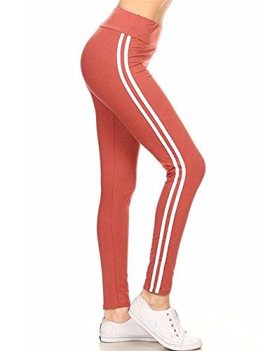 Junshan Femme Legging Taille Haute Yoga Leggings Des Sports Pantalon Athlétiques Stretchy Sports Leggings Dames collants Orange